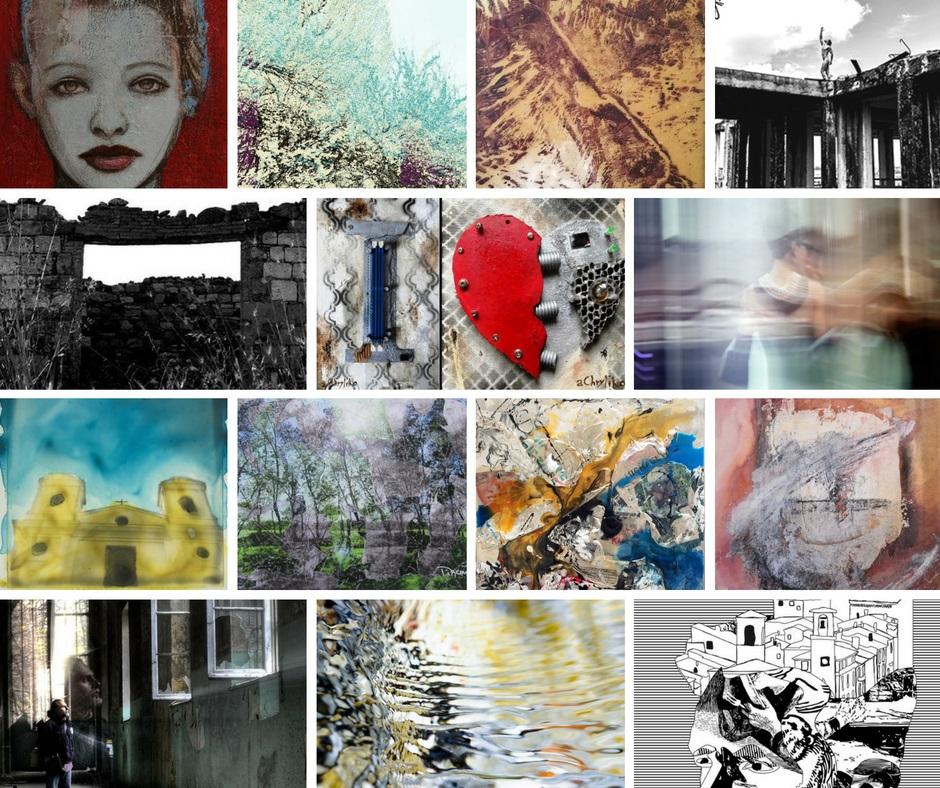 Collage opere artisti - alta